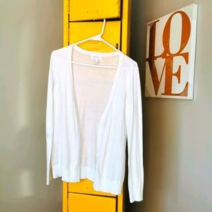 Forever 21 US S white knit cardigan sweater